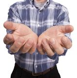 κενό αρσενικό χεριών Στοκ φωτογραφίες με δικαίωμα ελεύθερης χρήσης