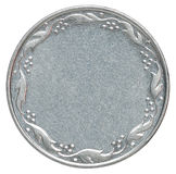 Κενό ασημένιο νόμισμα Στοκ Εικόνες