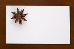 κενό αστέρι καρτών anis Στοκ εικόνες με δικαίωμα ελεύθερης χρήσης
