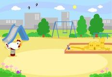 Κενό αστικό διάνυσμα παιδικών χαρών Στοκ Εικόνες