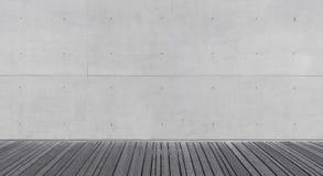 Κενό αφηρημένο εσωτερικό με το συμπαγή τοίχο Στοκ Φωτογραφία