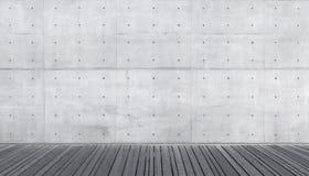 Κενό αφηρημένο εσωτερικό με το συμπαγή τοίχο Στοκ φωτογραφία με δικαίωμα ελεύθερης χρήσης