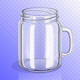 Κενό βάζο γυαλιού με τη λαβή Στοκ Φωτογραφία