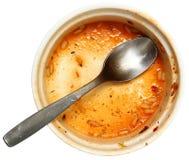Κενό βρώμικο κύπελλο της κρεολικής Gumbo σούπας Cajun που απομονώνεται Στοκ Εικόνες