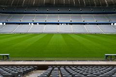 κενό γήπεδο ποδοσφαίρο&upsilo Στοκ φωτογραφίες με δικαίωμα ελεύθερης χρήσης