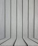 Κενό γκρίζο ξύλινο υπόβαθρο πατωμάτων Στοκ φωτογραφία με δικαίωμα ελεύθερης χρήσης