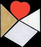 Κενό γραμματόσημο που πλαισιώνεται από τα μαύρα σύνορα. Στοκ Εικόνες