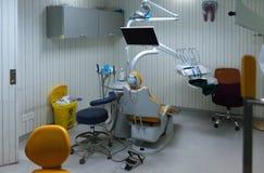 Κενό γραφείο οδοντιάτρων, ιατρικό δωμάτιο στοκ εικόνες