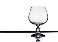 Κενό γυαλί κρασιού. Στοκ Εικόνες