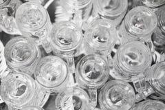 Κενό γυαλί στο εστιατόριο Στοκ Εικόνες