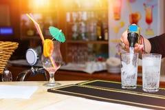 Κενό γυαλί από το κοκτέιλ με την ομπρέλα Στοκ Εικόνα