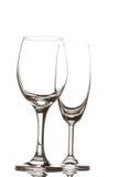 Κενό γυαλί κρασιού και γυαλί σαμπάνιας Στοκ φωτογραφία με δικαίωμα ελεύθερης χρήσης