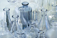 Κενό γυαλί μπουκαλιών Στοκ Εικόνες