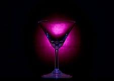 κενό γυαλί martini Στοκ Φωτογραφία