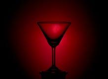κενό γυαλί martini Στοκ εικόνα με δικαίωμα ελεύθερης χρήσης