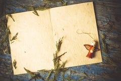 Κενό διάστημα ευχετήριων καρτών BChristmas Στοκ Εικόνα