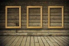 κενό δωμάτιο εικόνων πλαισίων παλαιό Στοκ φωτογραφία με δικαίωμα ελεύθερης χρήσης