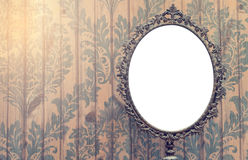 Κενό εκλεκτής ποιότητας πλαίσιο φωτογραφιών καθρεφτών Στοκ φωτογραφίες με δικαίωμα ελεύθερης χρήσης