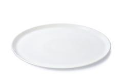 Κενό επίπεδο πιάτο Στοκ Φωτογραφίες