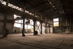 κενό εργοστάσιο Στοκ εικόνα με δικαίωμα ελεύθερης χρήσης
