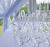 κενό εστιατόριο γυαλιών Στοκ Εικόνα