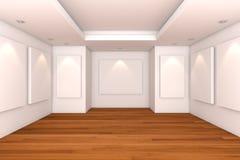 κενό εσωτερικό δωμάτιο στοών Στοκ Εικόνες
