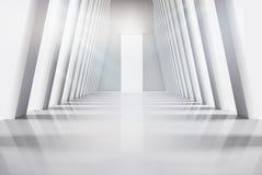 Κενό εσωτερικό με τα μεγάλα παράθυρα επίσης corel σύρετε το διάνυσμα απεικόνισης Στοκ εικόνα με δικαίωμα ελεύθερης χρήσης