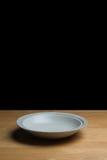 κενό λευκό πιάτων Στοκ εικόνα με δικαίωμα ελεύθερης χρήσης