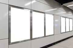 κενό λευκό πινάκων διαφημί&sig Στοκ φωτογραφίες με δικαίωμα ελεύθερης χρήσης