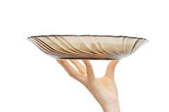 κενό θηλυκό χέρι γυαλιού π Στοκ εικόνα με δικαίωμα ελεύθερης χρήσης