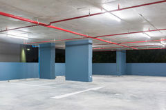 Κενό διάστημα σε έναν χώρο στάθμευσης Στοκ Εικόνα