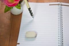 Κενό διάστημα του σημειωματάριου Στοκ φωτογραφία με δικαίωμα ελεύθερης χρήσης