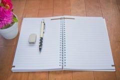 Κενό διάστημα του σημειωματάριου Στοκ εικόνα με δικαίωμα ελεύθερης χρήσης