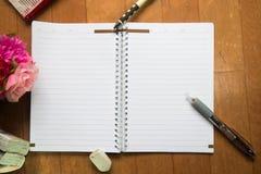 Κενό διάστημα του σημειωματάριου Στοκ Εικόνα