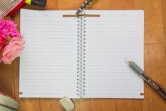 Κενό διάστημα του σημειωματάριου Στοκ Φωτογραφία