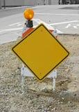 Κενό κίτρινο σημάδι στο άλογο κατασκευής Στοκ φωτογραφίες με δικαίωμα ελεύθερης χρήσης