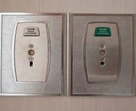 Κενό και σωλήνωση οξυγόνου στο υπομονετικό δωμάτιο Στοκ Εικόνα