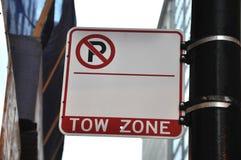 Κενό κανένα σημάδι ζώνης ρυμούλκησης χώρων στάθμευσης Στοκ εικόνες με δικαίωμα ελεύθερης χρήσης