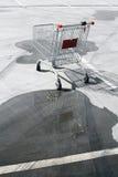 κενό καροτσάκι αγορών Στοκ φωτογραφίες με δικαίωμα ελεύθερης χρήσης