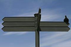 κενό κατευθυντικό σημάδι Στοκ εικόνα με δικαίωμα ελεύθερης χρήσης