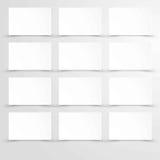 Κενό κενό έγγραφο με το άσπρο διάστημα αντιγράφων αφισών ορθογωνίων Στοκ φωτογραφίες με δικαίωμα ελεύθερης χρήσης