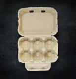 Κενό κιβώτιο χαρτοκιβωτίων αυγών Στοκ φωτογραφίες με δικαίωμα ελεύθερης χρήσης