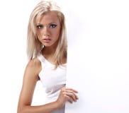 κενό κορίτσι χαρτονιών πο&upsilo Στοκ φωτογραφίες με δικαίωμα ελεύθερης χρήσης