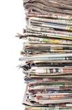 κενό κορυφαίο λευκό στοιβών εγγράφου εφημερίδων Στοκ Εικόνες
