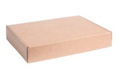 Κενό κουτί από χαρτόνι στο λευκό Στοκ φωτογραφία με δικαίωμα ελεύθερης χρήσης