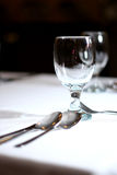 κενό κρασί γυαλιού Στοκ Εικόνες