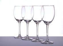 κενό κρασί γυαλιών Στοκ Φωτογραφίες