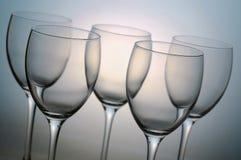 κενό κρασί γυαλιών Στοκ φωτογραφία με δικαίωμα ελεύθερης χρήσης