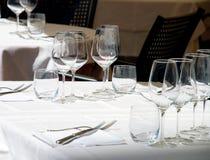 κενό κρασί γυαλιών Στοκ εικόνα με δικαίωμα ελεύθερης χρήσης