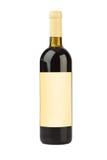 κενό κρασί ετικετών μπουκαλιών Στοκ Φωτογραφία